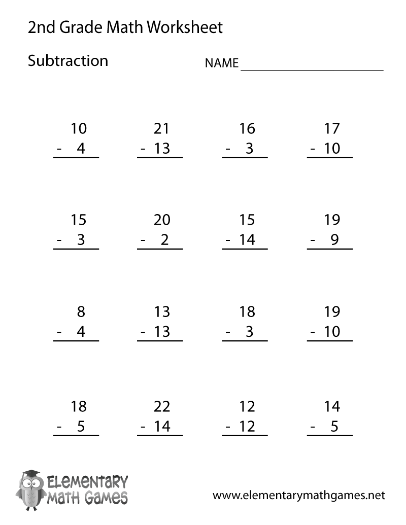 2nd Grade Math Worksheets Addition Printable The Best Worksheets