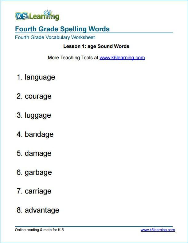 30 4th Grade Spelling Worksheets, Best 25 4th Grade Spelling Ideas