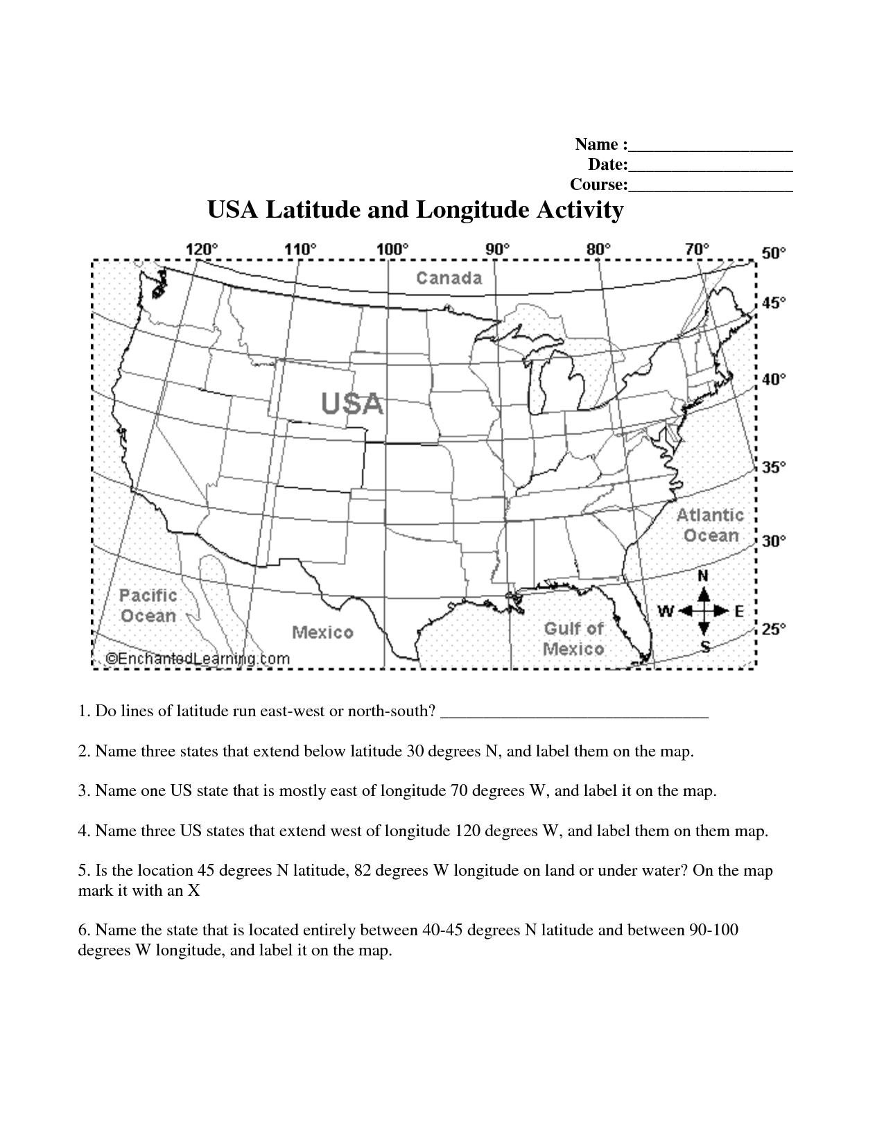 35 Latitude Longitude Worksheet, Worksheets On Latitude And