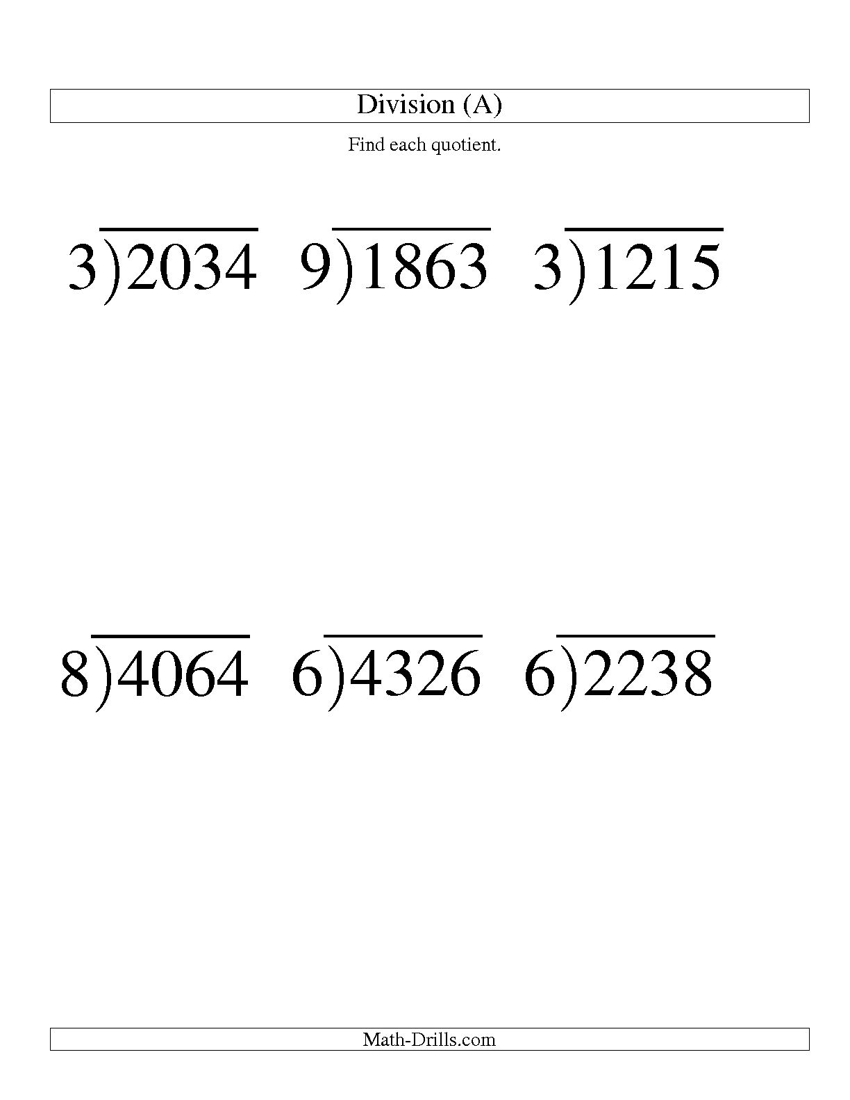 3rd Grade Long Division With Remainder Worksheets 528843