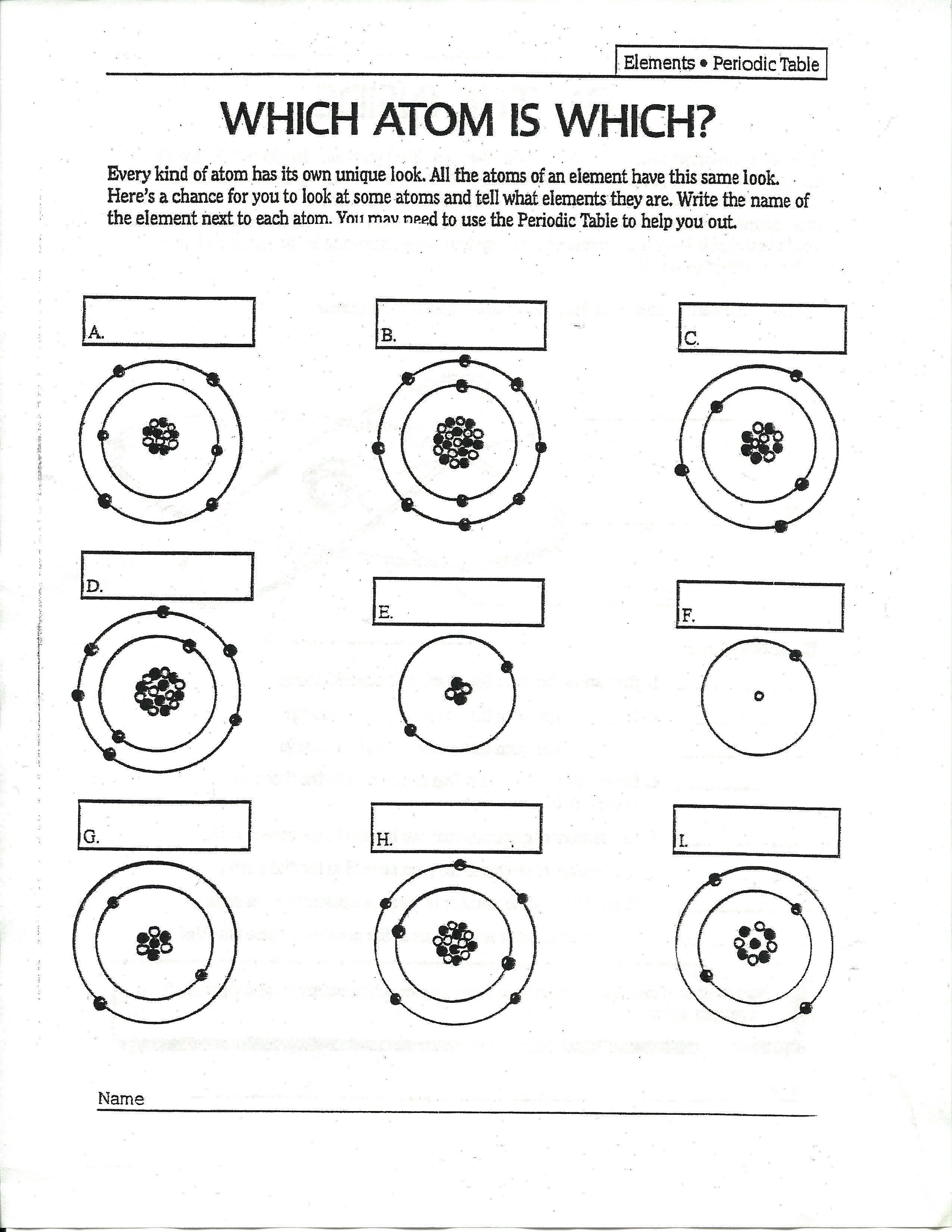 43 Atoms Worksheet, Atomic Model Worksheet Atomic Models Free Worksheets Samples