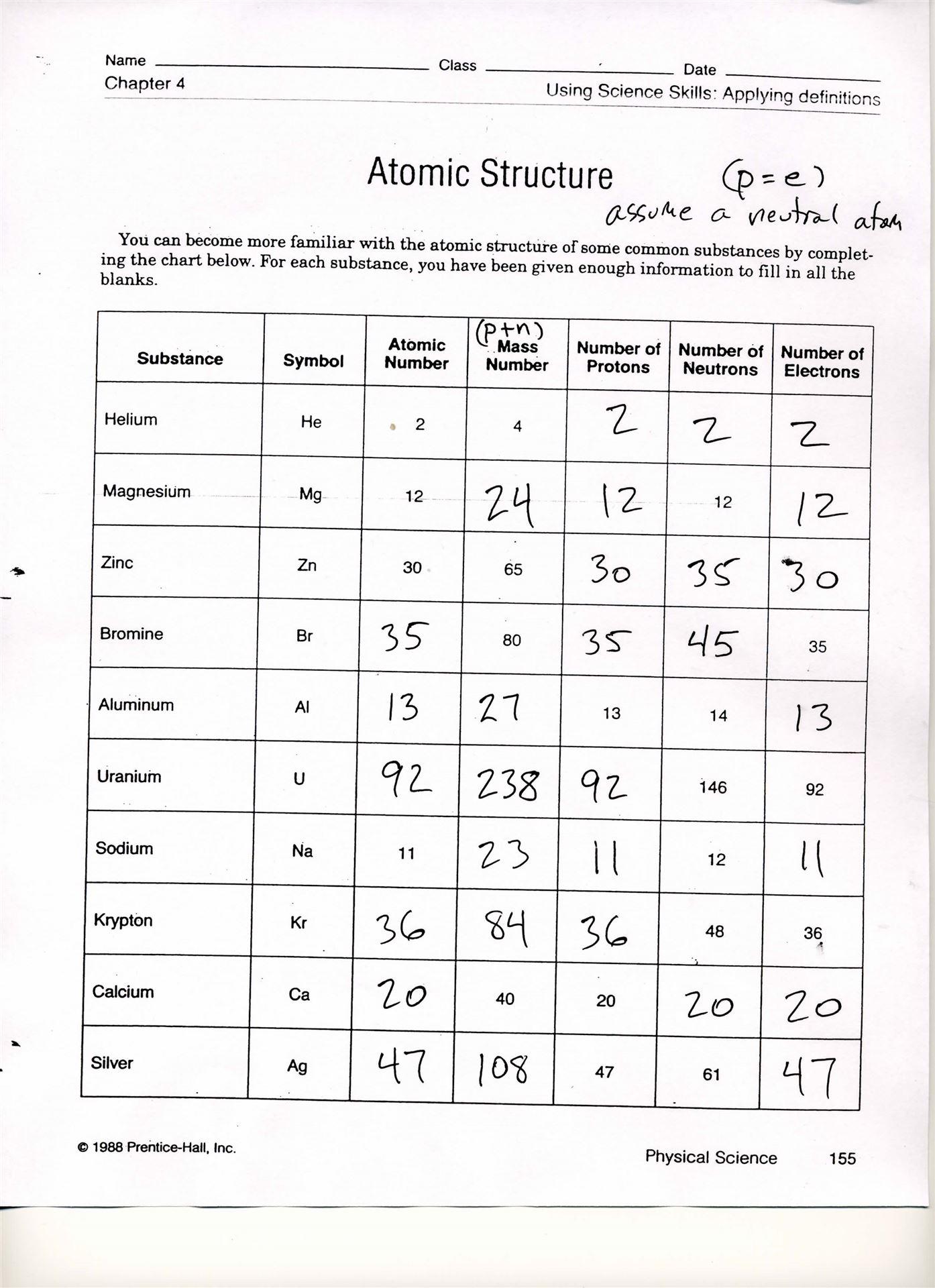 47 Bohr Model Worksheet Answers, Bohr Model Worksheet Answers