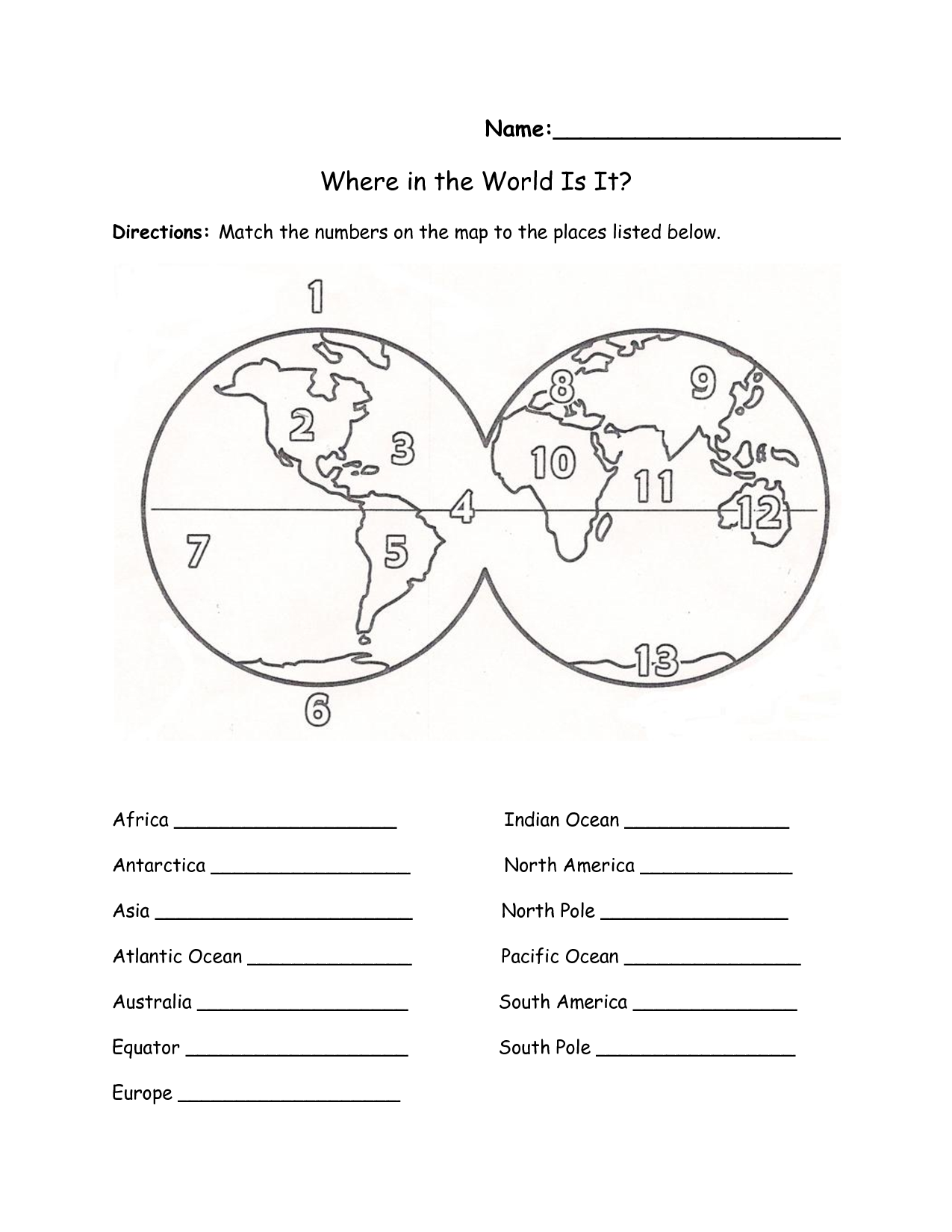 49 Continents Worksheet, 1000 Images About Montessori On Free Worksheets Samples