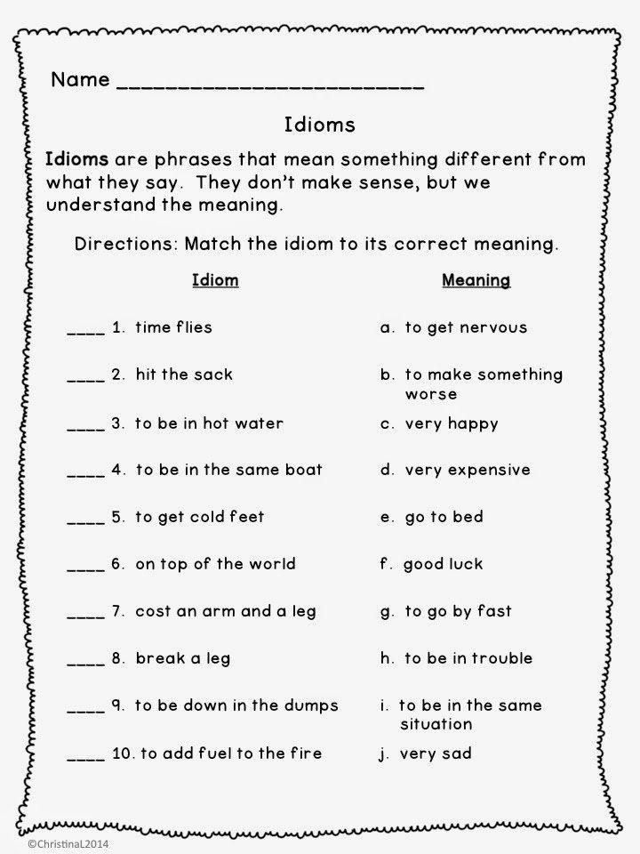 4th Grade Figurative Language Worksheets 261771