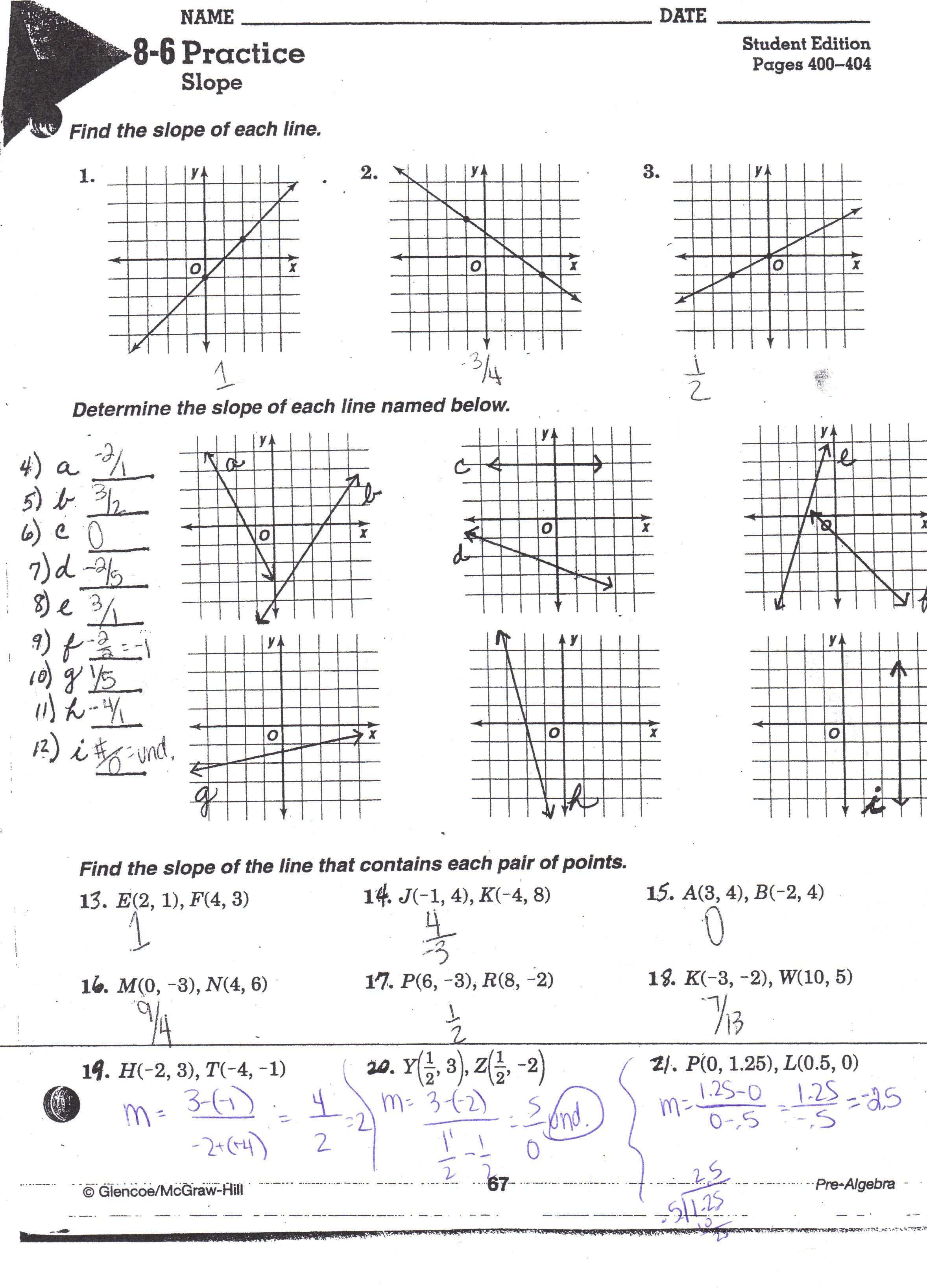 5 3 Slope Intercept Form Worksheet Answers