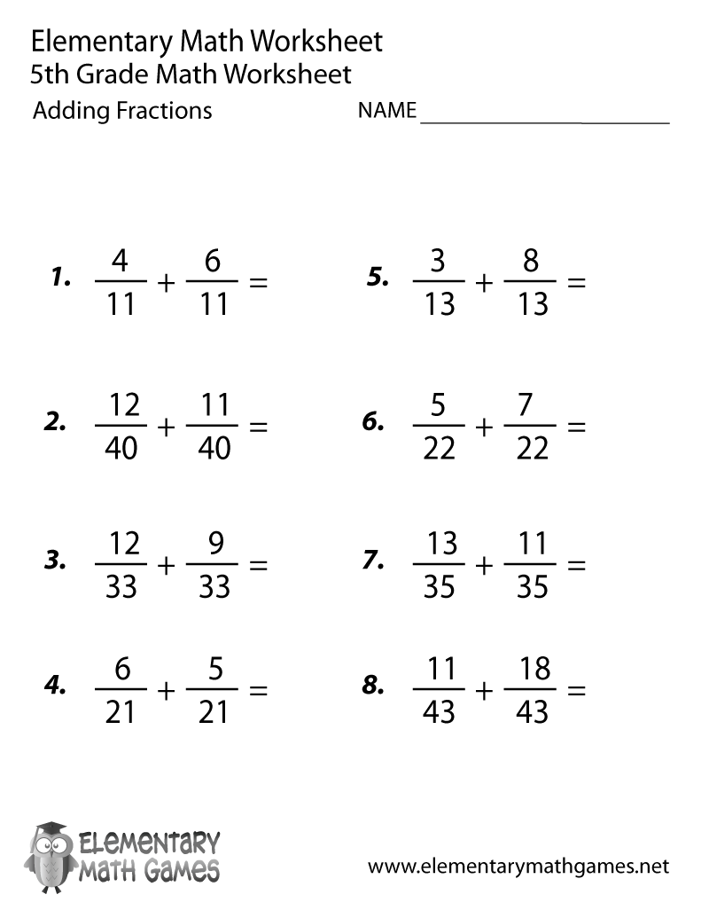 5th Grade Fractions Worksheets The Best Worksheets Image