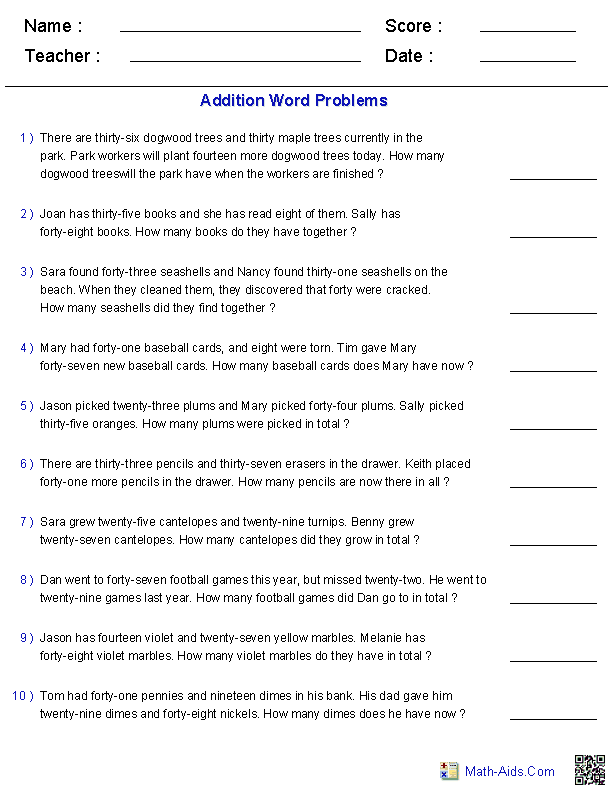 5th Grade Math Word Problems Worksheets Printable The Best