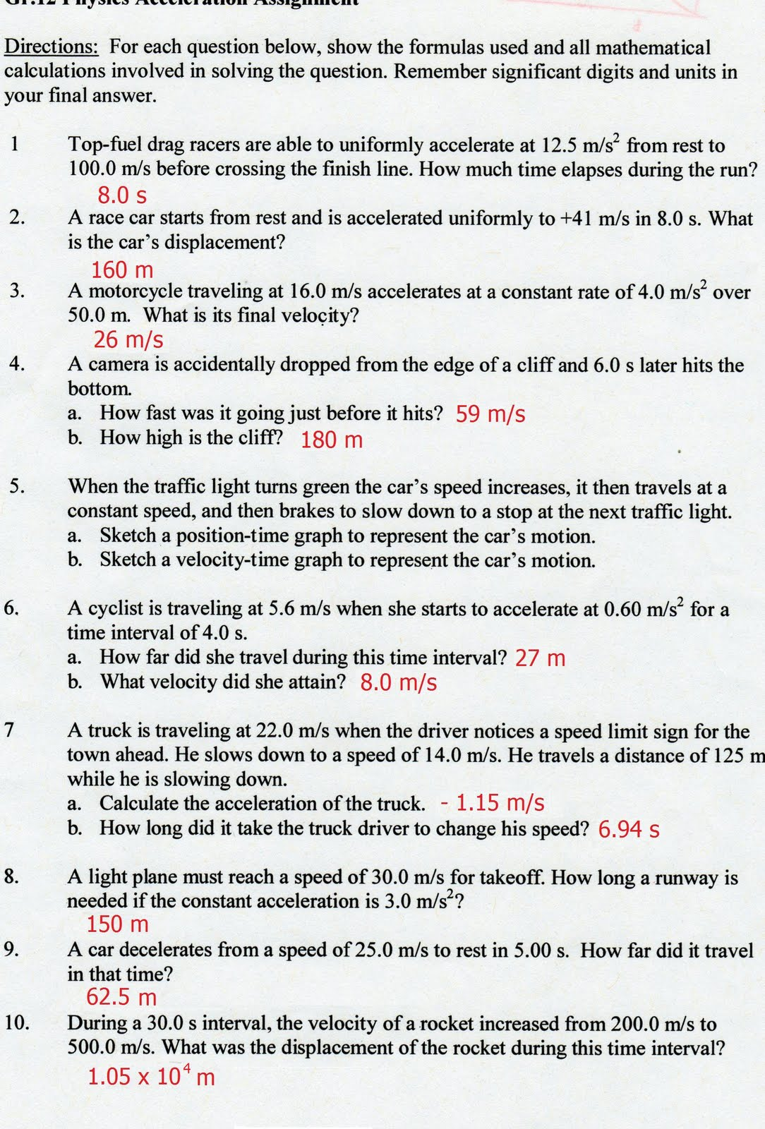Acceleration And Motion Worksheets The Best Worksheets Image
