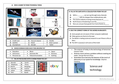 Advances In Science And Technology Worksheet
