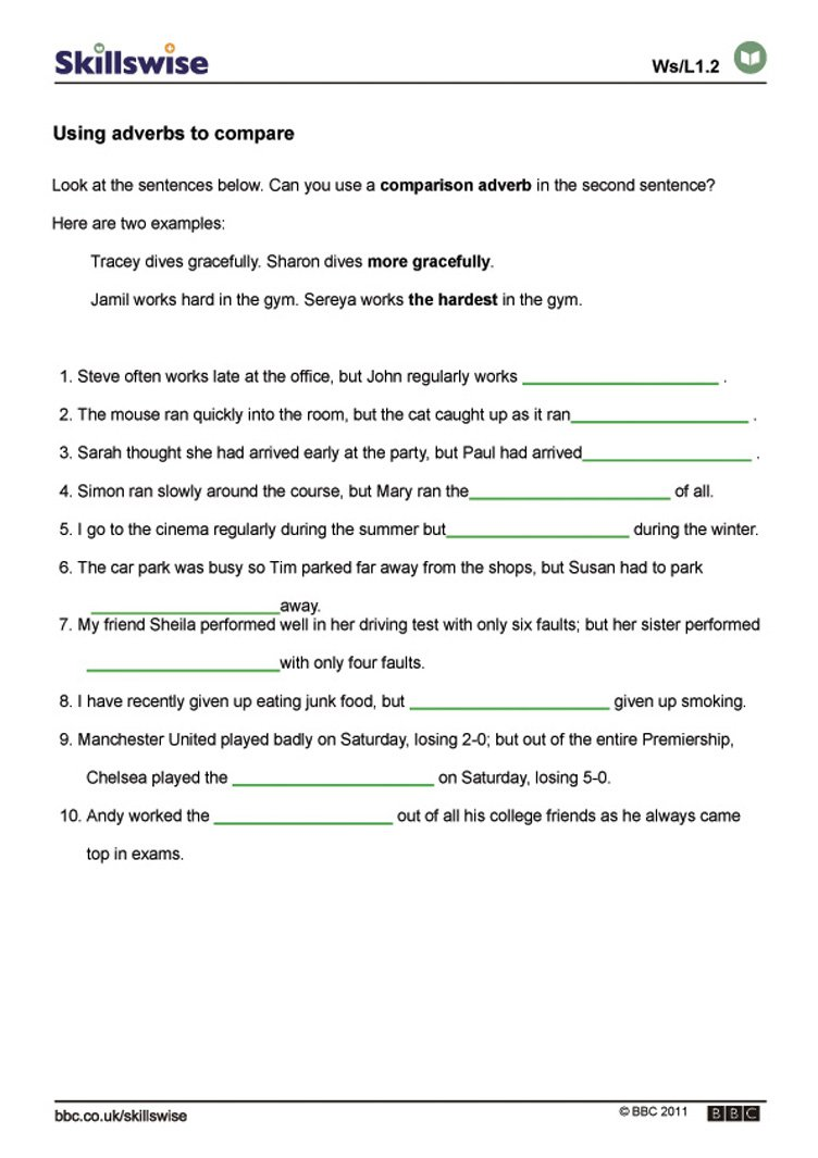 Adverbs Worksheet Pdf The Best Worksheets Image Collection