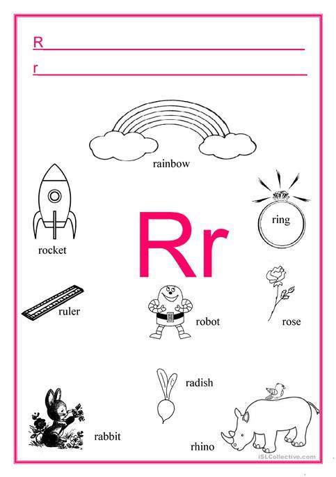 Alphabet Letter R Worksheet