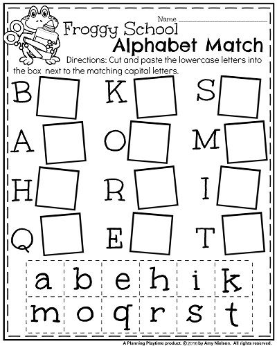 Alphabet Worksheets Back To School Kindergarten Worksheets
