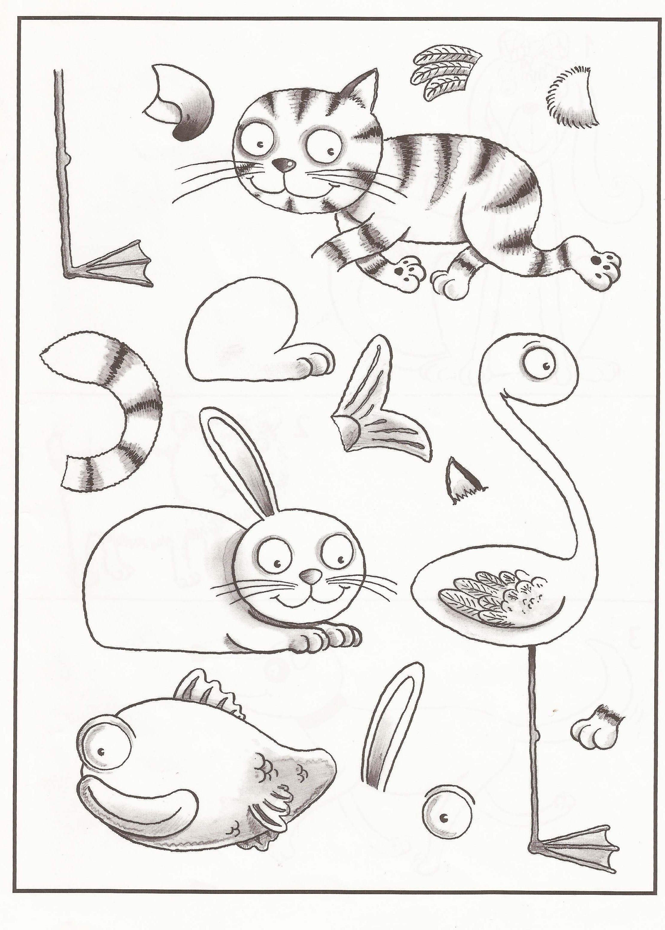 Animal Body Parts Worksheets Kindergarten 830437