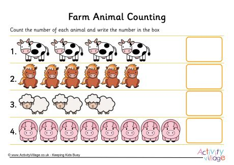 Animal Counting Worksheets