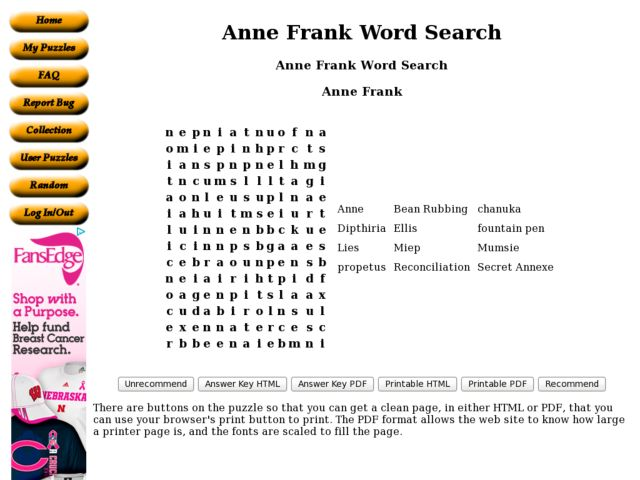Anne Frank Worksheet The Best Worksheets Image Collection