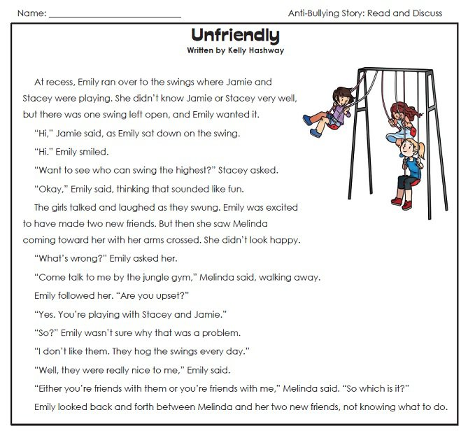 Anti Bullying Worksheet 503596
