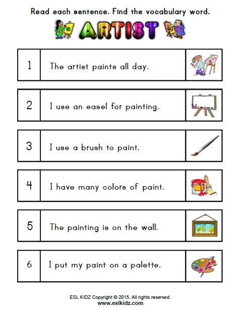 Art Vocabulary Worksheets The Best Worksheets Image Collection