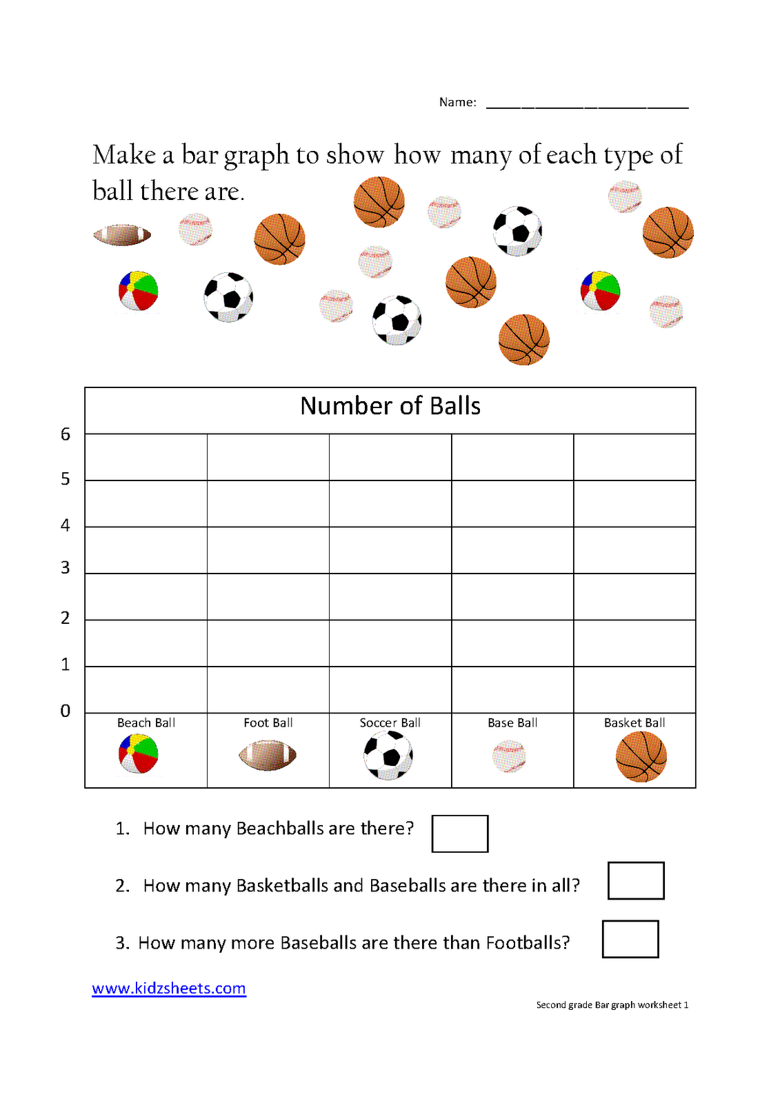 Bar Graph Worksheets For 2nd Grade Math 589691