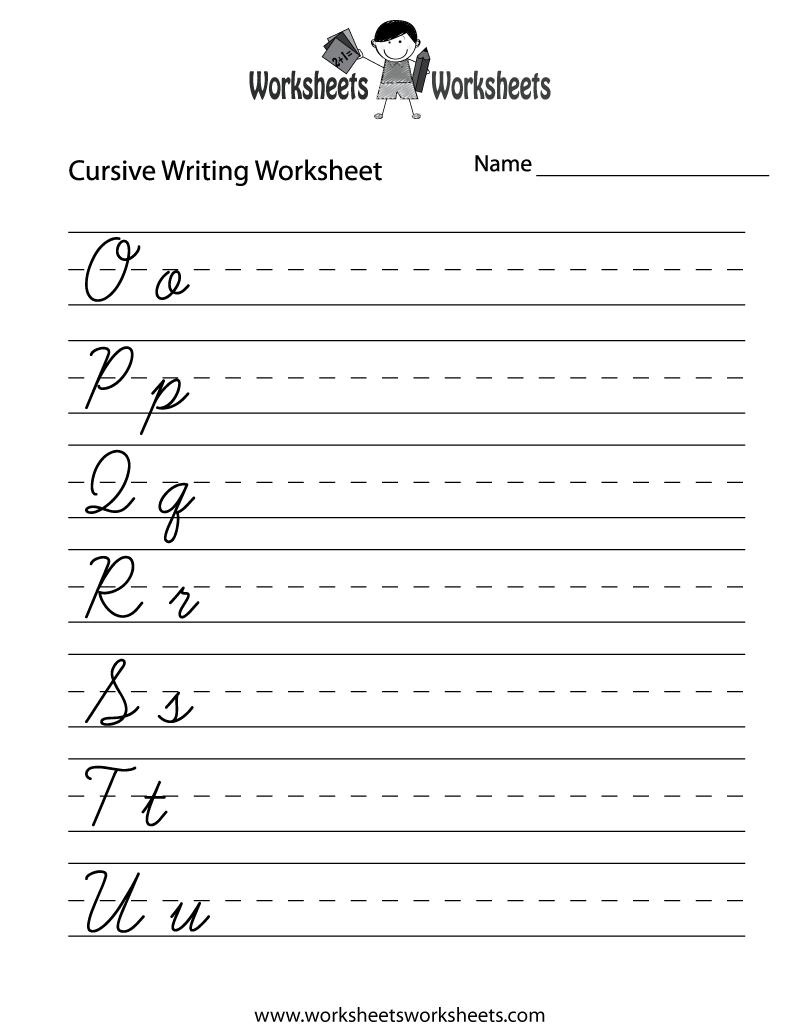 Beginning Cursive Handwriting Worksheets 249900