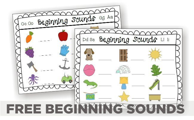 Beginning Sounds – 5 Guided Reading Activities {printable