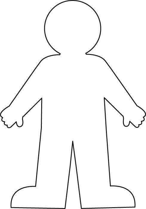 Blank Body Coloring Page Worksheet With A Blank Body Outline