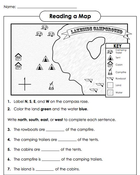 Cardinal Directions Worksheets 278592