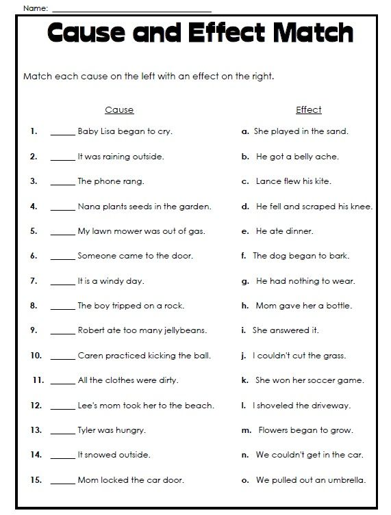 Cause And Effect Worksheets Middle School The Best Worksheets