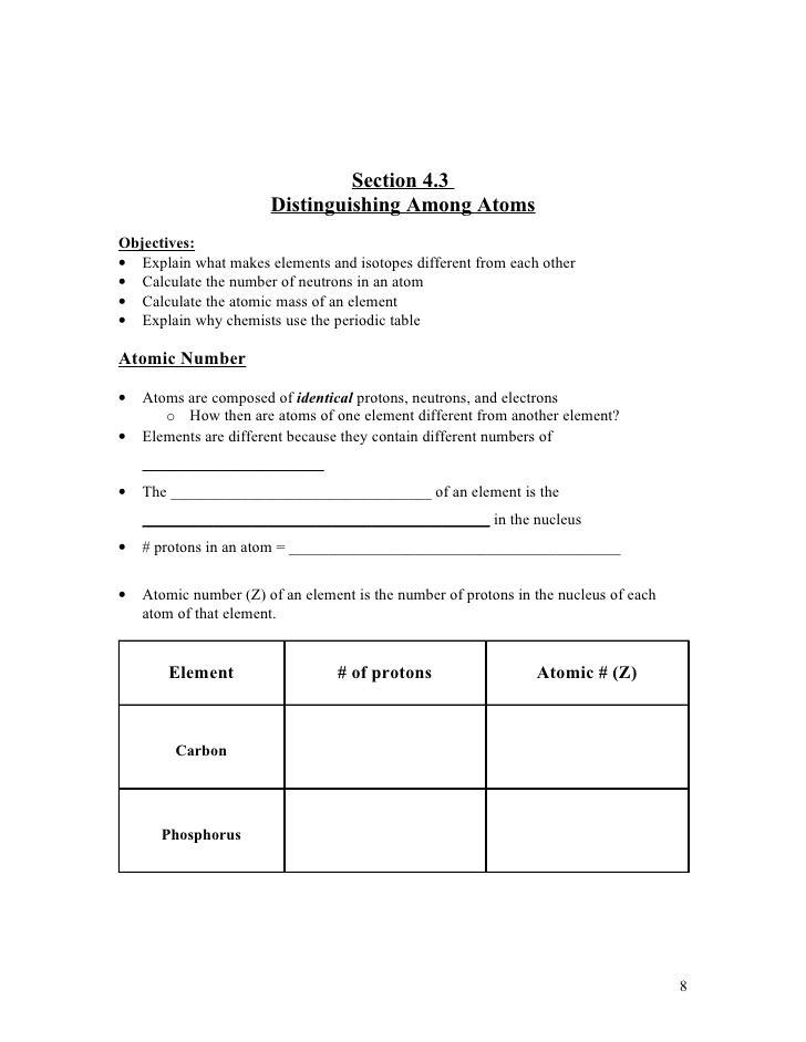 Chapter 4 Atomic Structure Worksheet Answer Key Pearson 957572