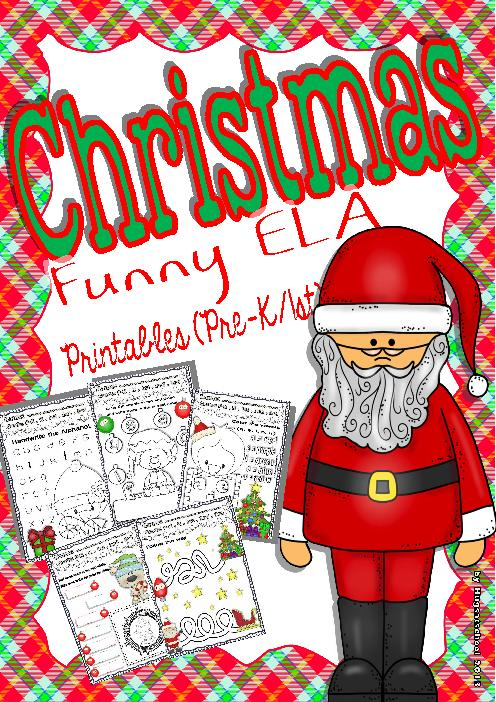 Christmas Funny Worksheets For Ela Centers (pre
