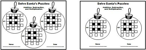 Christmas Math Puzzle Worksheets Middle School 22828