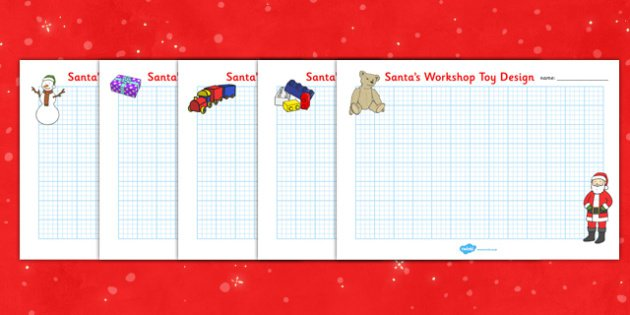 Christmas Toy Design Sheets