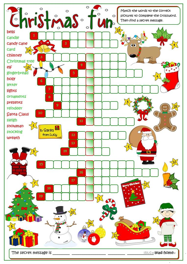 Christmas Worksheet Free The Best Worksheets Image Collection