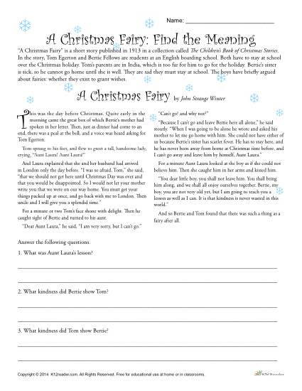 Christmas Worksheets For 6th Grade The Best Worksheets Image
