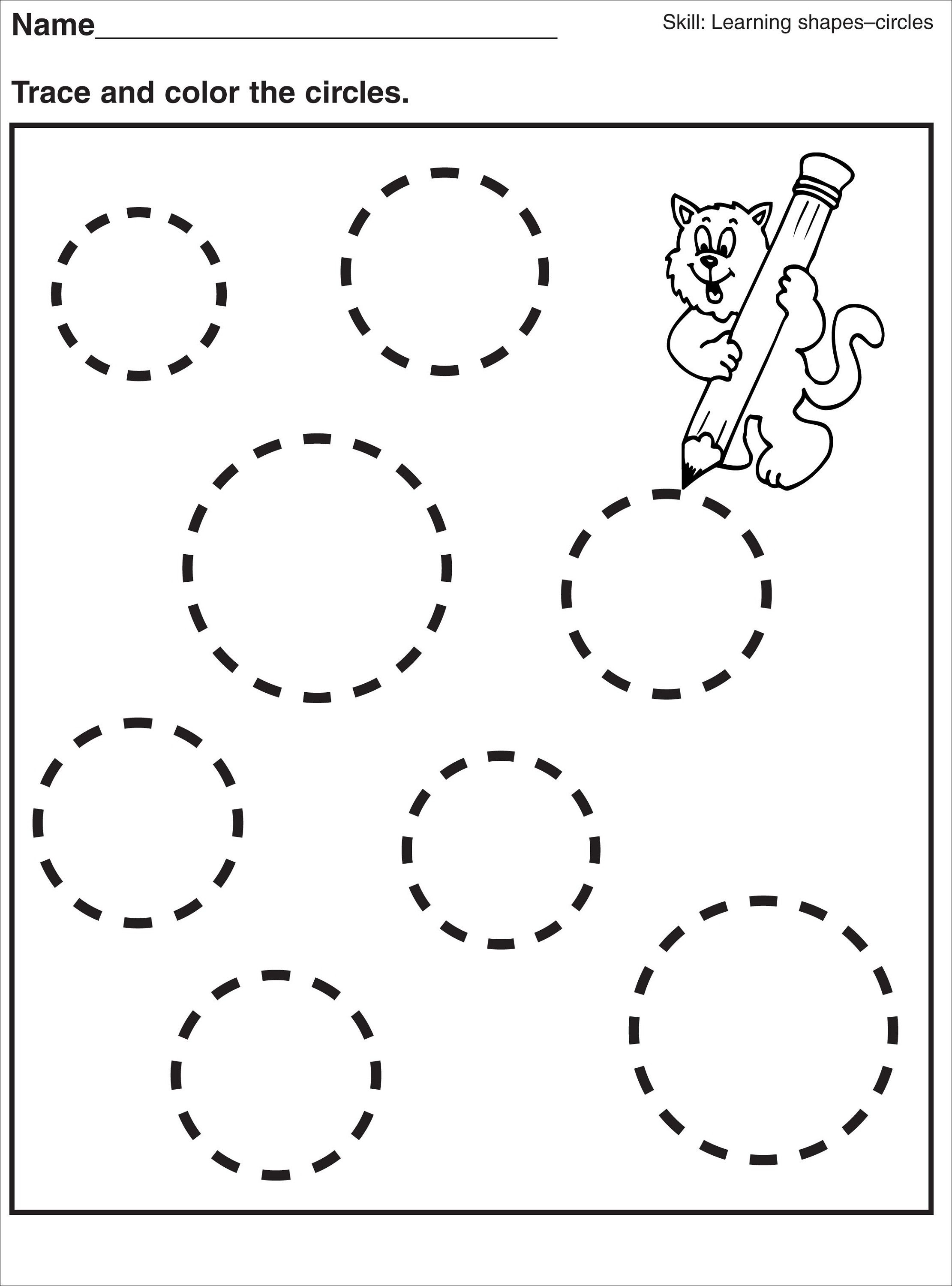 Circle Worksheets For Preschool 232941