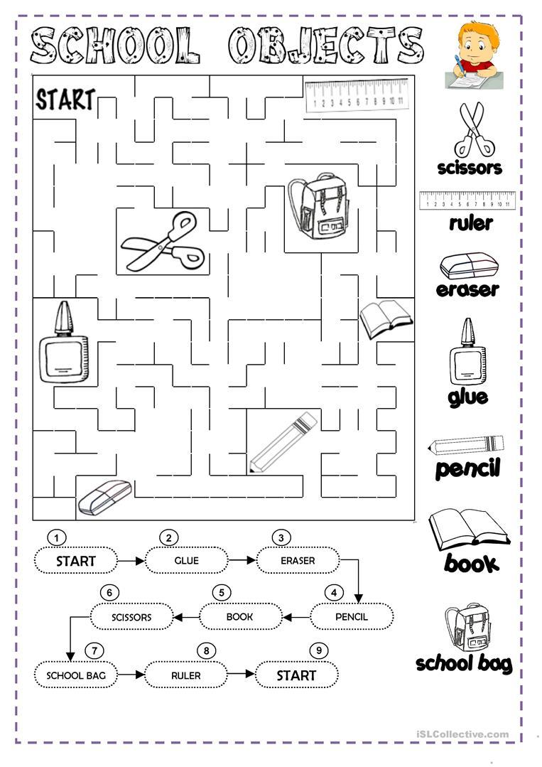 Classroom Vocabulary Worksheets For Kindergarten 1237382