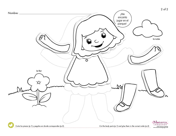 Collection Of Body Parts Worksheet For Preschoolers