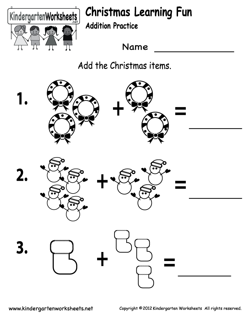 Collection Of Christmas Worksheets For Kindergarten Free