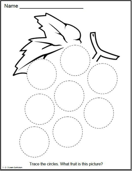 Collection Of Circle Worksheets For Pre K