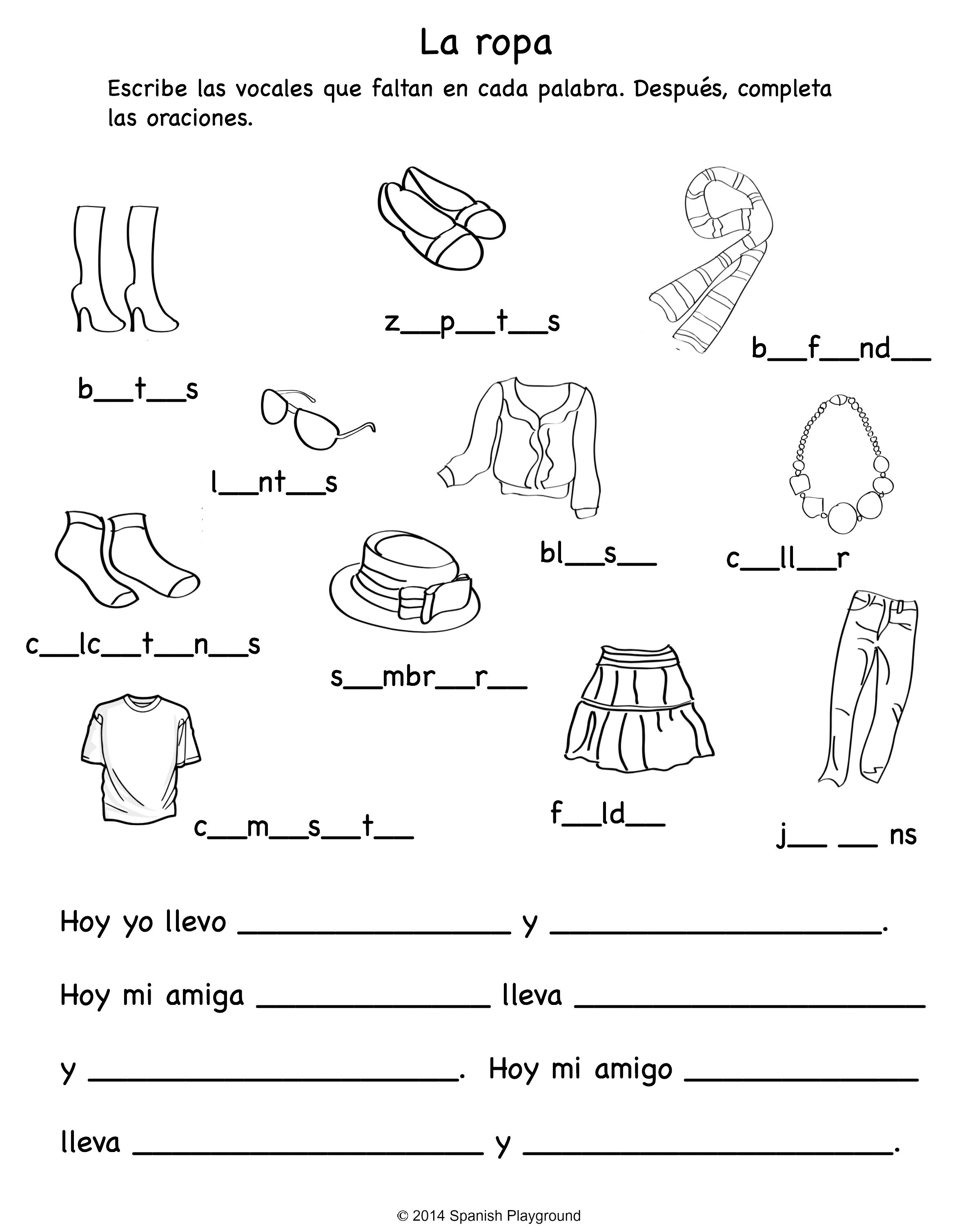 Collection Of Clothes Worksheets For Toddlers