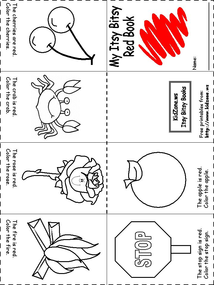 Collection Of Color Red Worksheet For Preschool