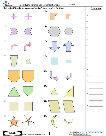 Collection Of Congruent Worksheet
