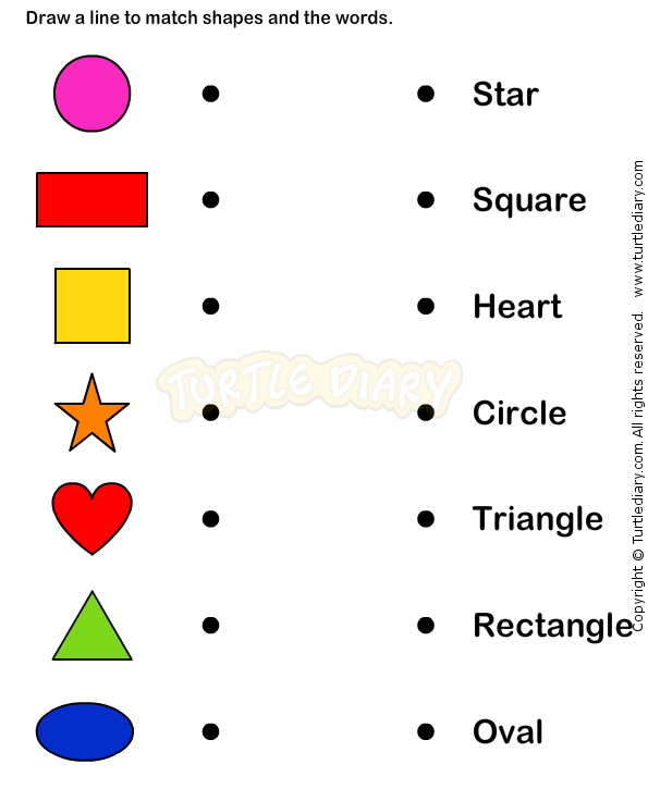 Collection Of Different Shapes Worksheets For Kindergarten