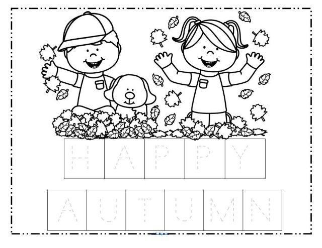 Collection Of Fall Themed Worksheets For Preschool
