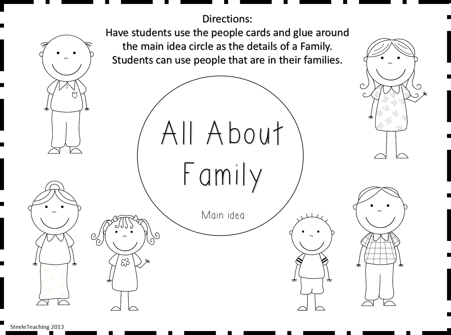 Collection Of Family Worksheets For Preschool