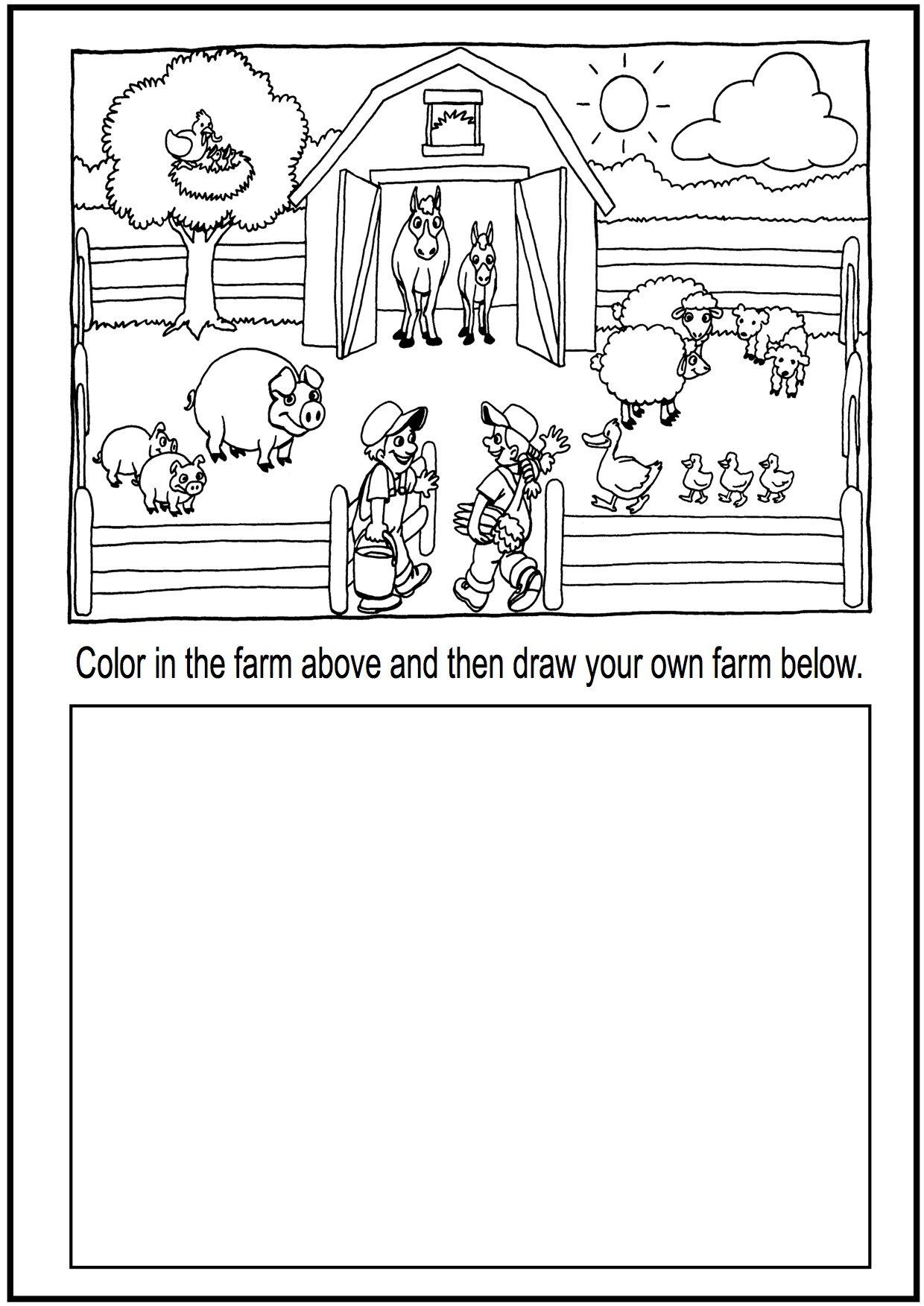Collection Of Farm Animals Worksheets For Kindergarten Pdf
