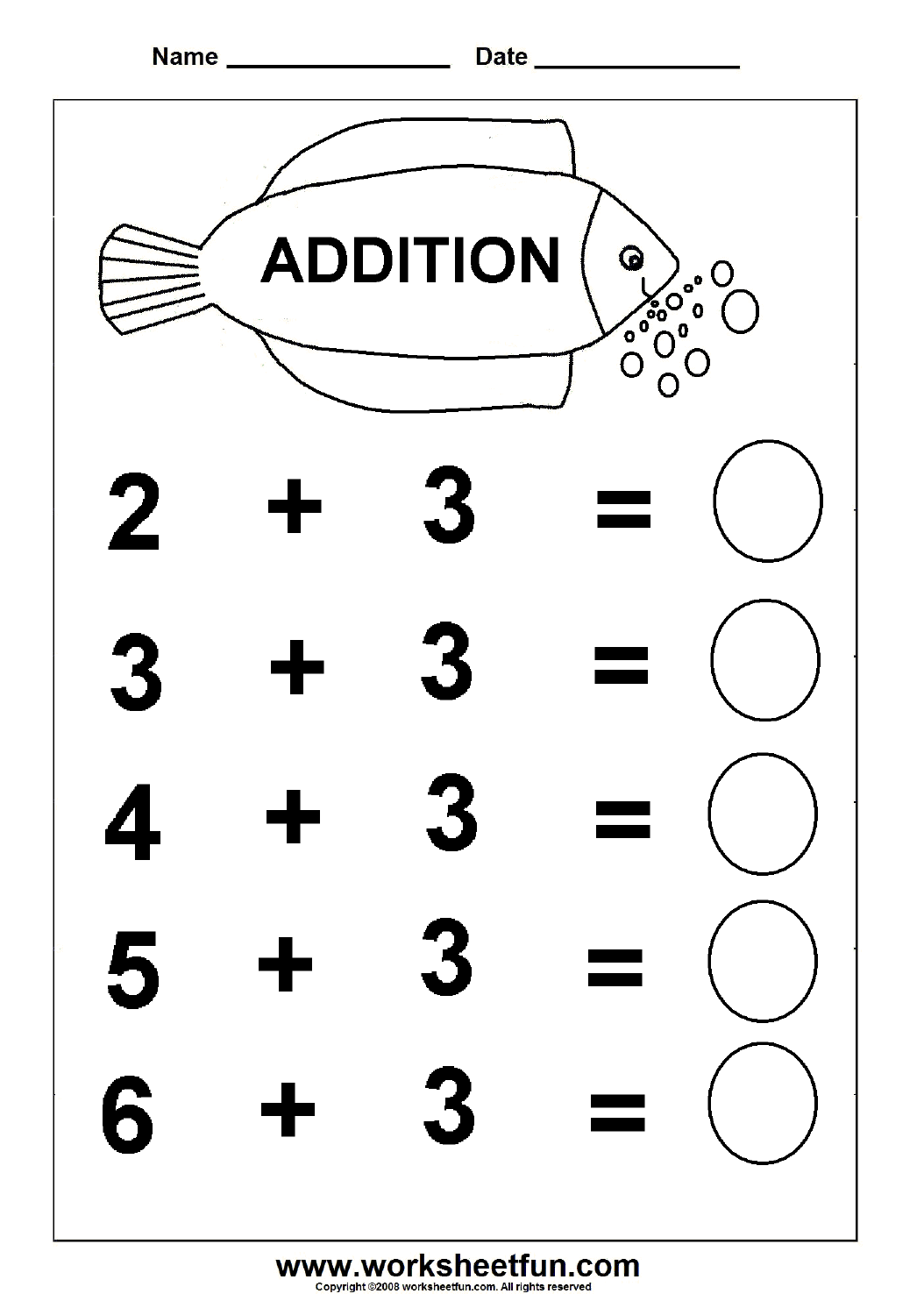 Collection Of Free Easy Addition Worksheets For Kindergarten