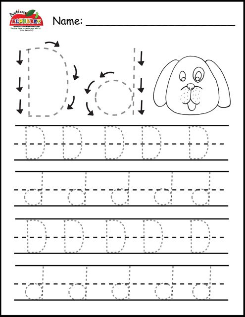 Collection Of Free Preschool Letter Tracing Worksheets