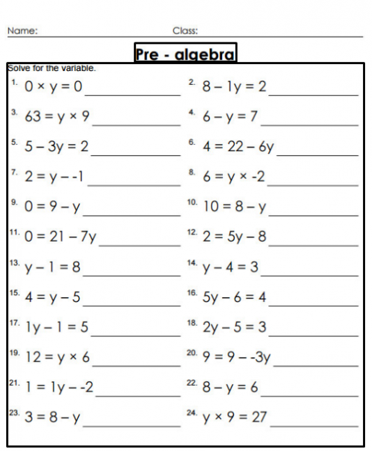 Collection Of Grade 8 Math Worksheets Alberta