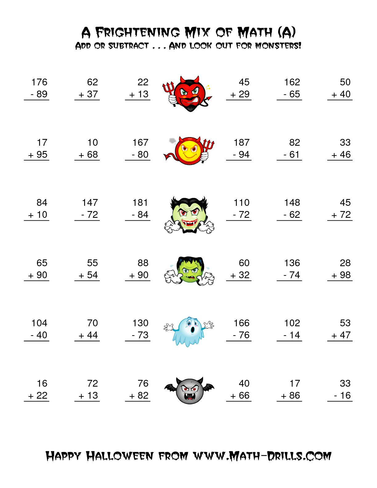 Collection Of Halloween Multiplication Worksheets Grade 4