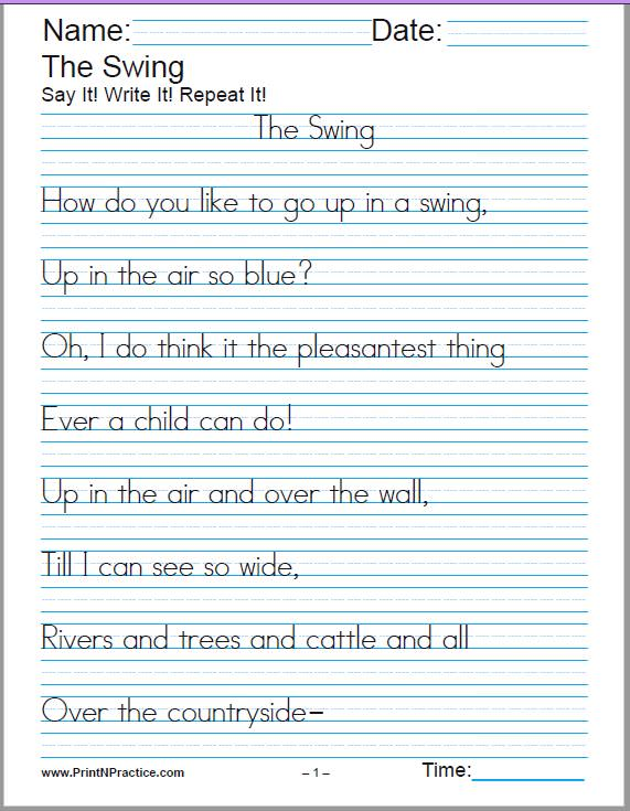 Collection Of Handwriting Practice Worksheets Free Printables